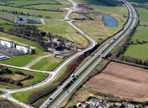 M7 near Millennium Park where Sallins bypass will intersect with new 3-lane motorway.