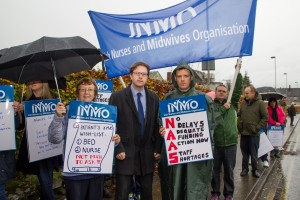 At Naas General with staff protesting the dire shortage of staffing resources a few months ago.