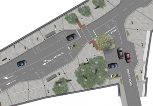 The NTA's layout changes for Poplar Sq. would see a drastic reduction in parking spaces.
