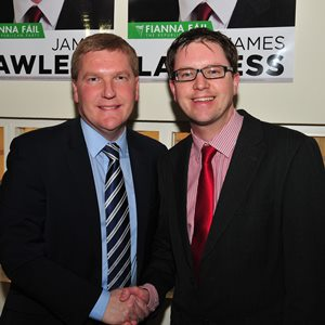 Michael McGrath TD with Cllr James Lawless