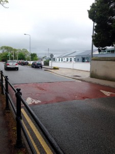 Site of road works set to commence during the school summer holidays