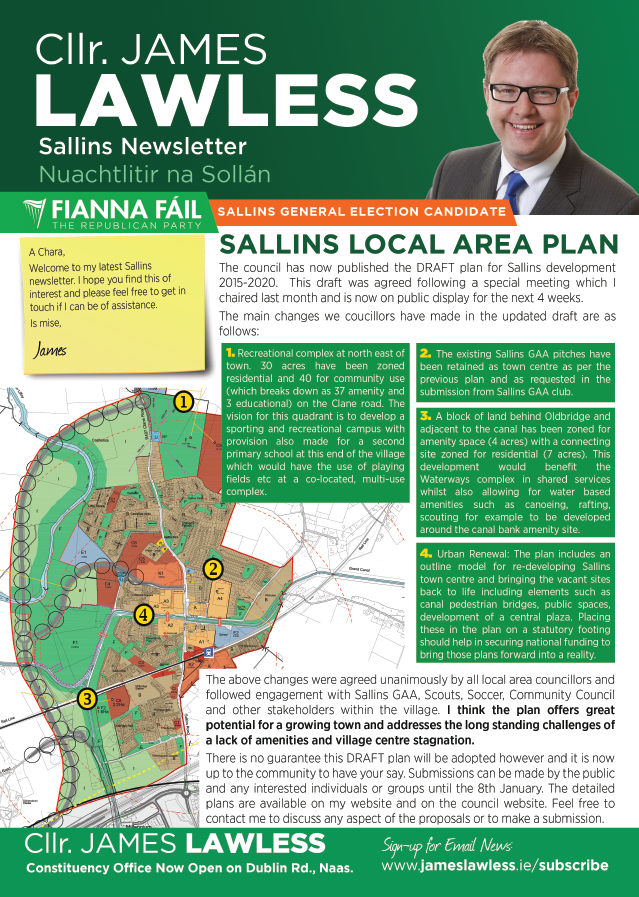 Sallins newsletter Dec 2015 pg1