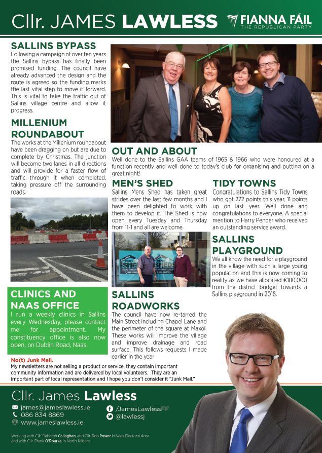 Sallins newsletter Dec 2015 pg2