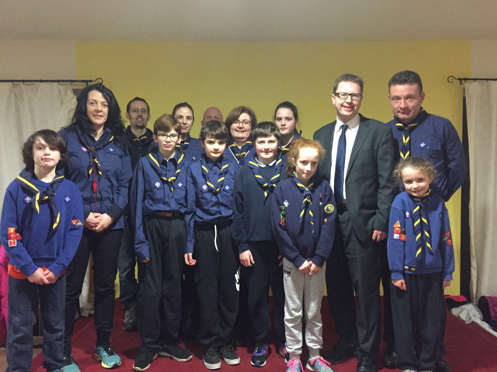 Together with members of the Kill scouts group and their scout leader Clem Gavin.