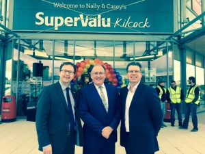 James Lawless T.D. with Cllr Paul Ward at the opening of Supervalu, Kilcock.