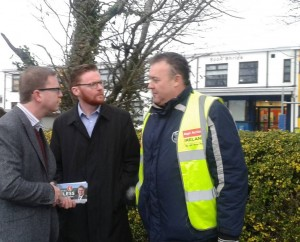 Meeting with parents outside the old boys school, Clane.