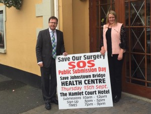 With Niamh Souhan at submission clinic in the Hamlet Court Hotel.