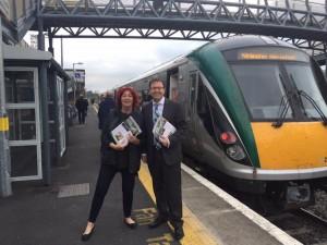 Cllr. Carmel Kelly and I at Sallins Train Station Recently.