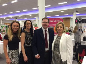 With Fiona Craul & Susan Dempsey of Sweetspot Sourcing (Naas), and Sue O'Neill (Sallins) of the Small Firms Assoication.