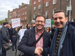 Pictured at the march for Science recently.