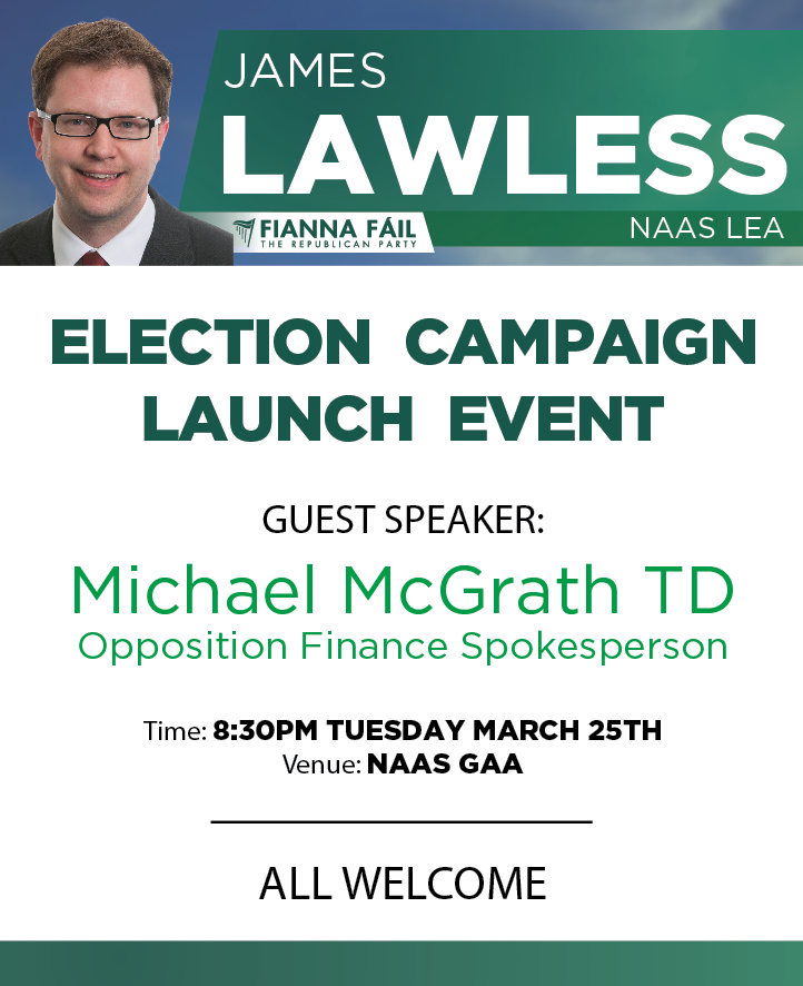 James Lawless election campaign launch 2014