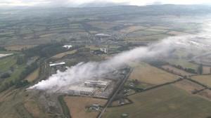 Kerdiffstown landfill fire in 2010