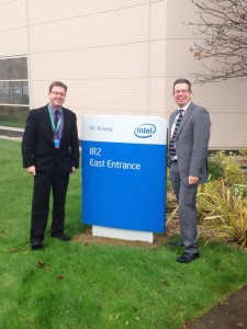 James Lawless T.D. at a recent event in Intel, Leixlip. Pictured with Cllr. Paul Ward.