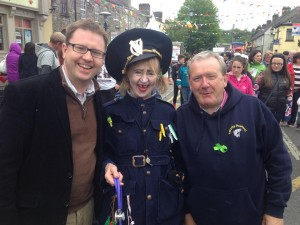 With Bernard Caldwell at the Leixlip Festival