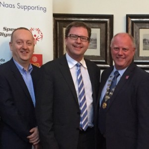 L-R: Pat Doyle, Managin Director of Peter McVerry Trust, Cllr James Lawless, and Andrew Considine, President of Naas Rotary Club