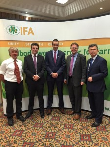 Meeting with IFA President Joe Healy and Kildare North Farmers Roy Gallie & Brian Rushe