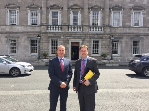 Pictured with Dublin Bus CEO Ray Coyne