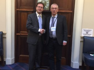 With ASTI President Ger Curtin in Leinster House