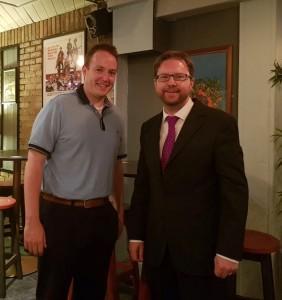 With Fianna Fáil Local Area Representative for Kill Brian Larkin